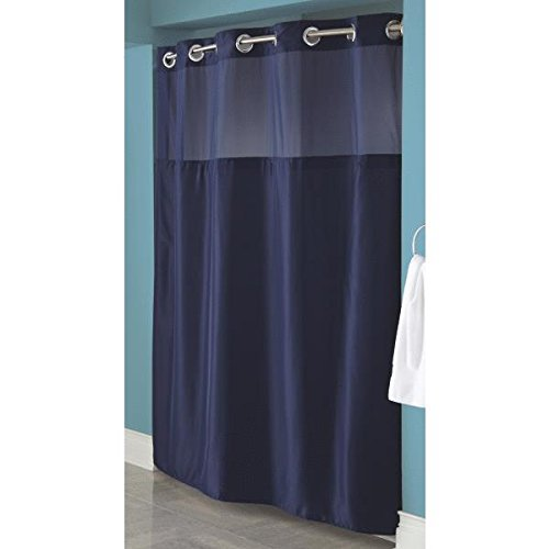 Hookless Fabric Shower Curtain With Built In Liner Navy