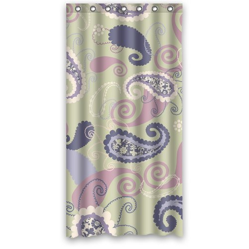 Custom Purple Paisley Shower Curtain 36″ X 72″