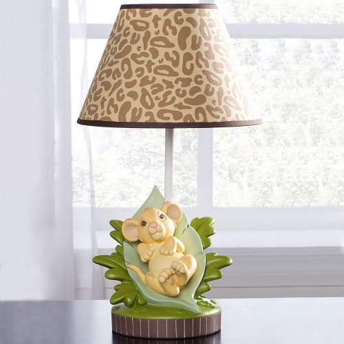 disney simba lion king lamp base and shade for baby nursery jungle. Black Bedroom Furniture Sets. Home Design Ideas