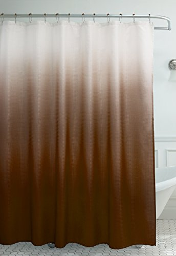 Creative Home Ideas Ombre Waffle Weave Shower Curtain With