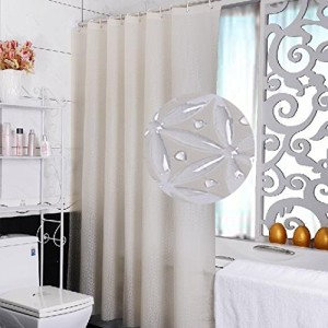 Eforcurtain Extra Long Mildew Free Peva Modern Pattern Shower Curtain Or Liner For Bathroom