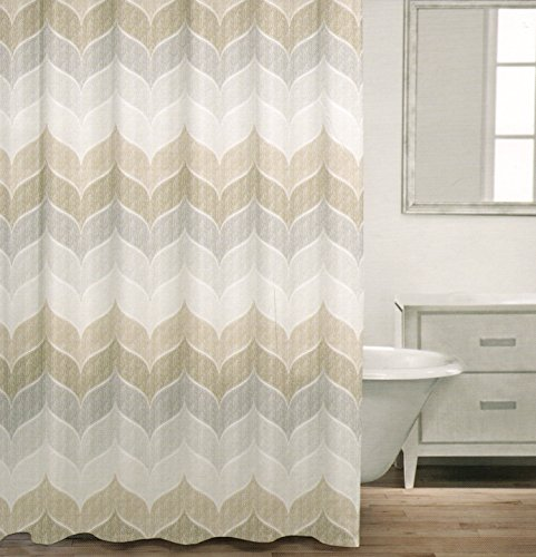 Caro Home 100 Cotton Shower Curtain Wide Stripes Chevron