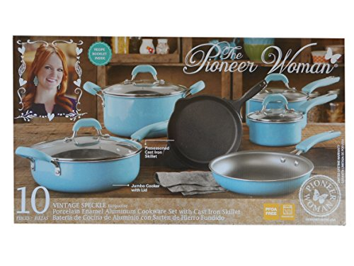 The Pioneer Woman Vintage Speckle 10 Piece Non Stick Pre