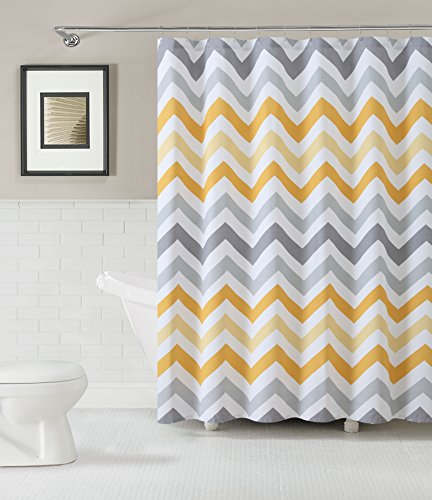 Chevron fabric shower curtain