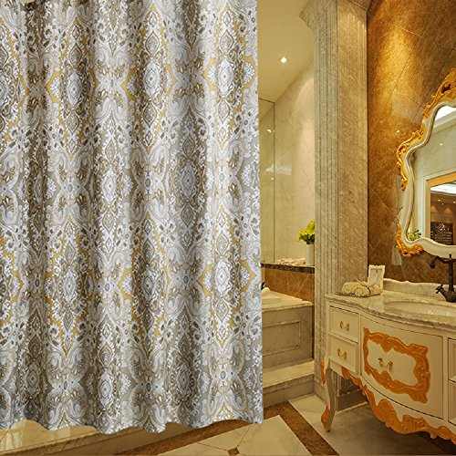 ... Long Shower Curtain Polyester Waterproof Fabric Shower Curtain 108 x