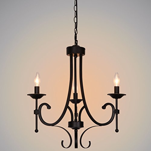 Black Candle Ceiling Lights : Ella fashion? black vintage style chic mordern candle