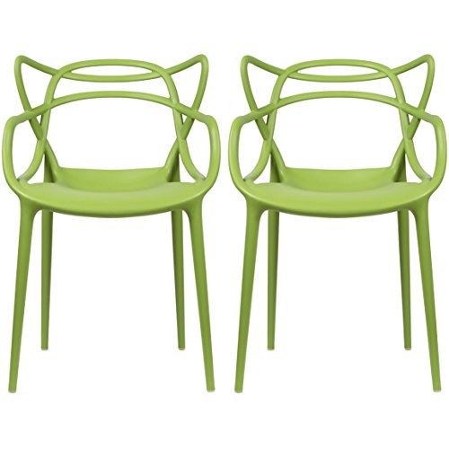 2xhome set of 2 green dining room chairs modern contemporary designer designed popular - Green mountain furniture for bedroom dining and living room ...