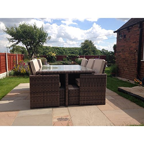 Radeway 11 Pcs Patio Furniture Dining Set Garden Outdoor