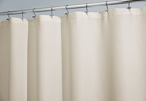 Mdesign Waffle Weave Luxury Hotel Fabric Shower Curtain Long 72 X 84 Sand Rings N Rollers
