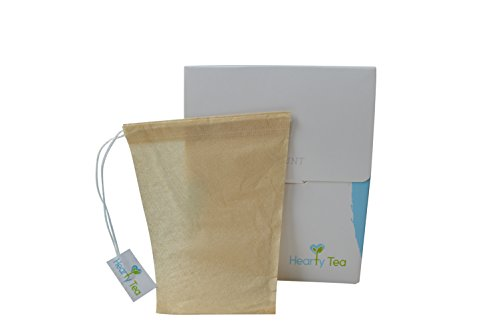 Tea Filter Bags With Drawstring 100 Pack Disposable Tea
