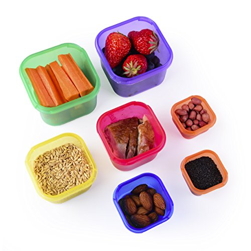 Portion Control Containers Kit (7-Piece) with COMPLETE GUIDE by ...