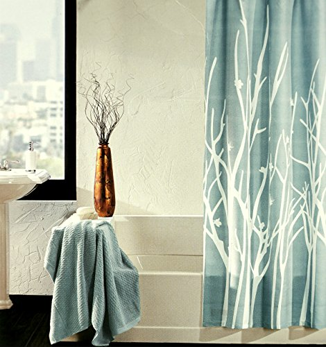 Asian Tree Branch Design Modern Luxury Cotton Fabric Shower Curtain ...