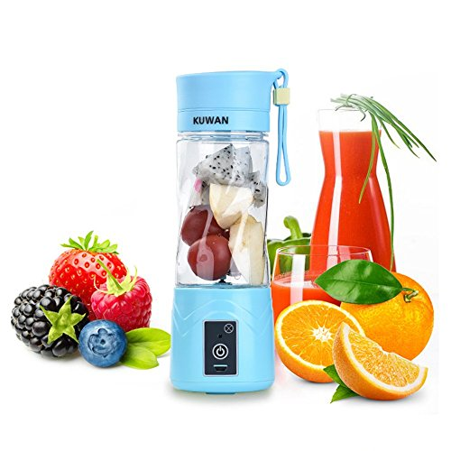 Portable Juicer Rechargeable Battery Portable Radio New Zealand Best Portable Air Compressor For Jeep Wrangler Portable Electric Air Compressor For Car Tires: KUWAN Portable Juicer Cup Rechargeable Battery Juice