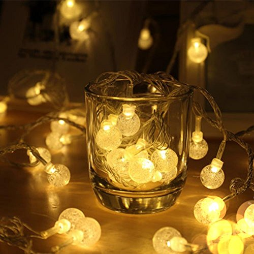 mufu solar string light 30 led lampion coloful lamp mini decorative lights bulb crystal. Black Bedroom Furniture Sets. Home Design Ideas
