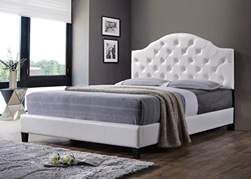Luxury Tufted Queen Bed Frame With Headboard And Footboard