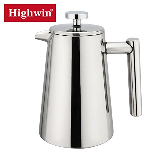 Tea And Coffee Maker French Press Coffee Plunger : Highwin 8-Cup/35-Ounce Coffee Press Double Wall Keep Warm Insulated Stainless Steel French Press ...