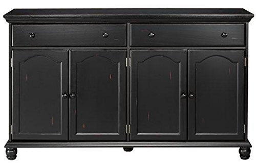 Harwick Black Credenza Sideboard Buffet Table 35 H X 60 W
