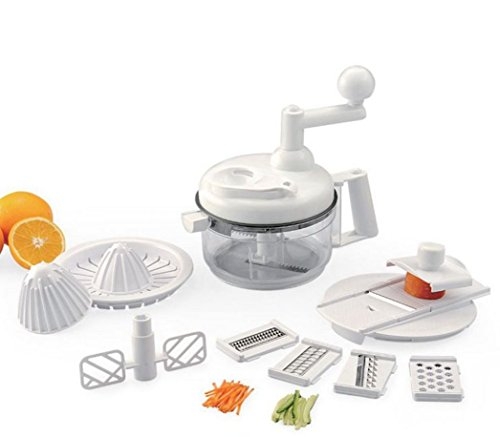 Multi functional food processor vegetable slicer fruit slicer 4 stainless steel blades - Julienne blade food processor ...