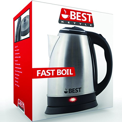 best electric tea kettle rapid boil technology huge 2 0l capicity brushed nickel stainless. Black Bedroom Furniture Sets. Home Design Ideas
