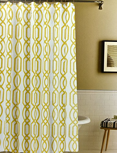 envogue antique iron gate shower curtain modern geometric