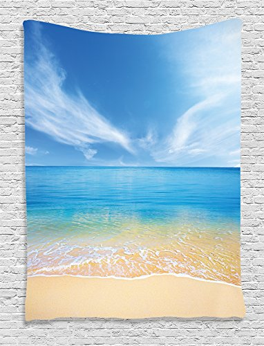 Ambesonne Ocean Decor Collection Sand Beach In Summer At