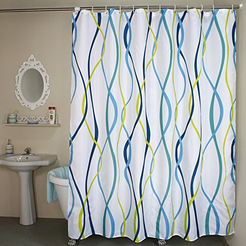 Shower Curtains Wave Vertical Stripe Fabric Shower Curtain Liner Set Stripes Striped Shower