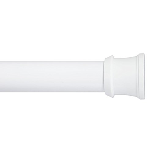 Kenney Slide And Lock Shower Curtain Rod 36 To 63 Inch White Rings N Rollers