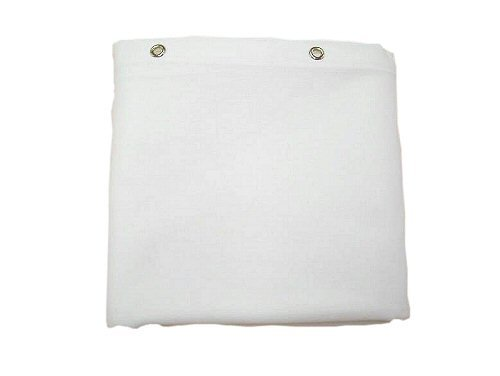 Sturdy Cotton Duck Shower Curtain Extra Long White Rings N Rollers