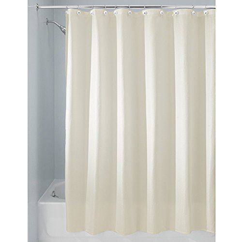 Interdesign Carlton Fabric Shower Curtain X Wide 108 X 72 Natural Rings N Rollers