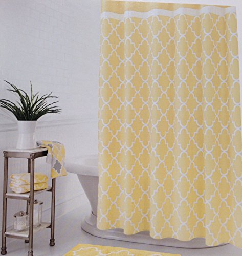 One Home Julius Heavy Duty Cotton Fabric Shower Curtain 72 X 72 Rings N Rollers