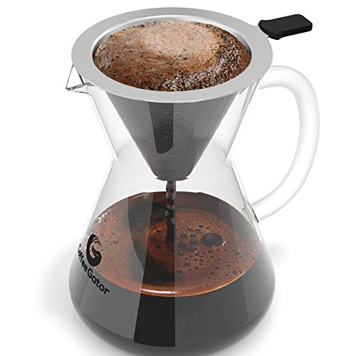 Pour Over Coffee Maker Handmade : Pour Over Coffee Maker Great Coffee Made Simple 3 Cup Hand Drip Coffee Maker With Stainless ...