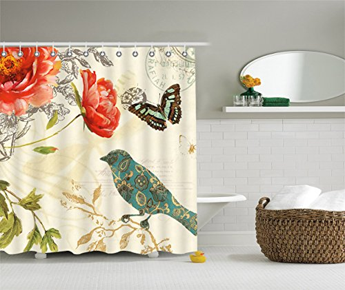Funky Kitchen Curtains: SCOCICI Durable Fabric Shower Curtain,Stylish,Decorative