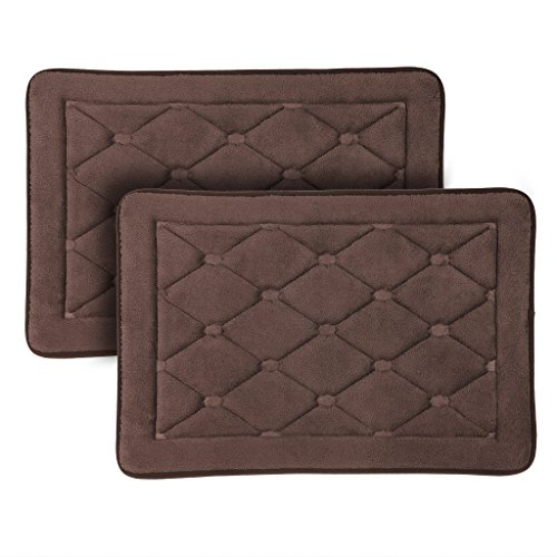 Langria Breathable Fast Dry Memory Foam Bath Mats Soft