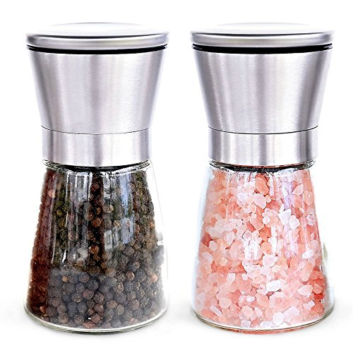 Miss jordan elegant salt and pepper mill stainless steel