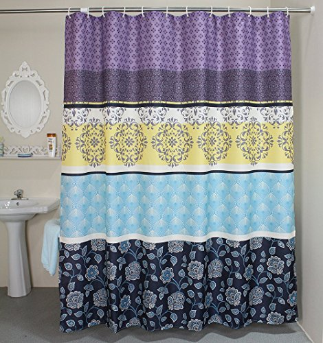 Shower Curtains Waterproof Fabric Shower Curtain Liner Sets 108 X 72 Inches Multi Colored