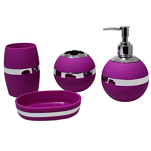 Purple bathroom set