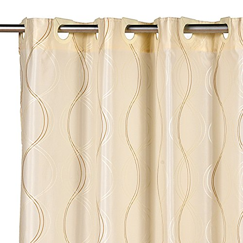 bristol ez on hookless fabric extra wide shower curtain with