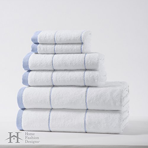 Roka home collection 6 piece luxury hotel spa 100 for Home spa brand towels