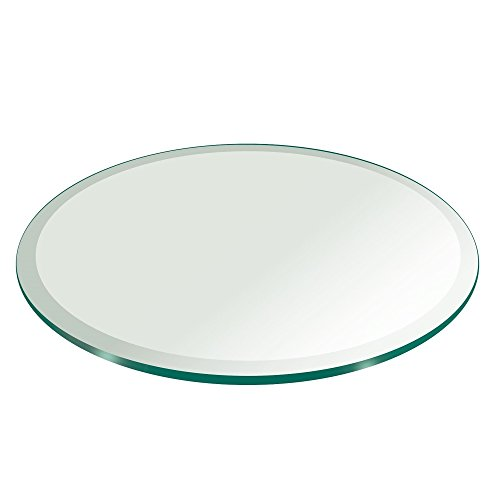 Fab glass and mirror glass table top 26 inch round 1 2 for 12 inch round glass table top