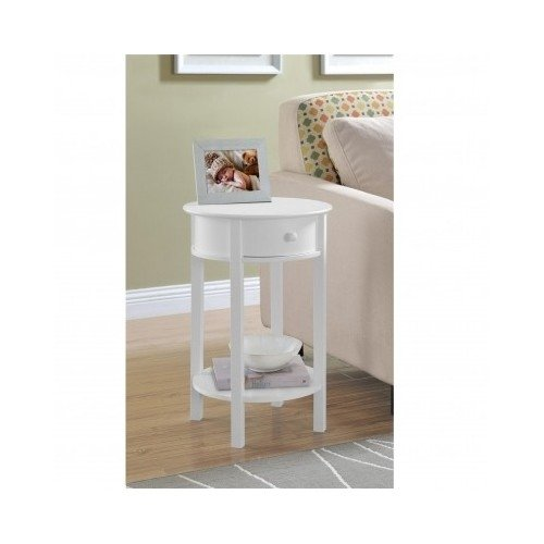 Side Sofa Table Small White Round Wood Furniture Couch End