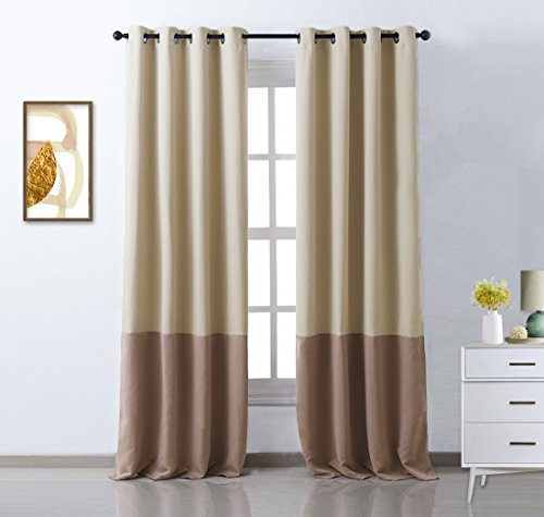 Nicetown bedroom colorblock blackout drapes mix and for Mix and match curtains colors