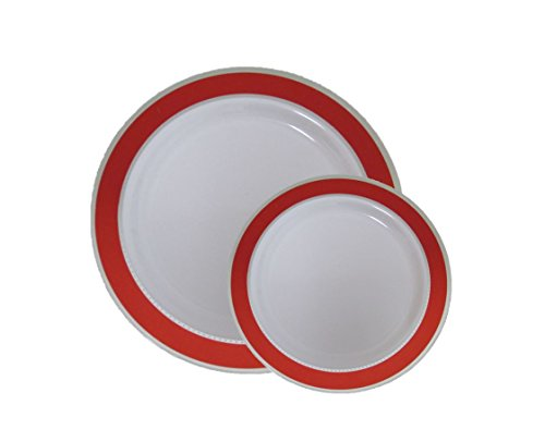 Disposable Plastic Dinner Amp Dessert Plates With Red