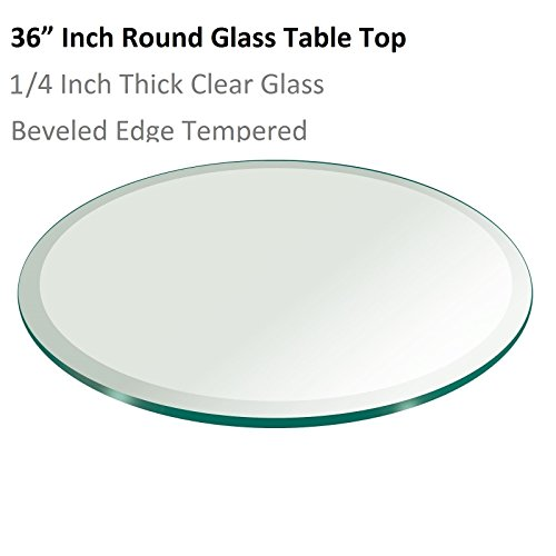 1 4 Inch Tempered Hardboard ~ ″ inch round glass table top thick tempered beveled