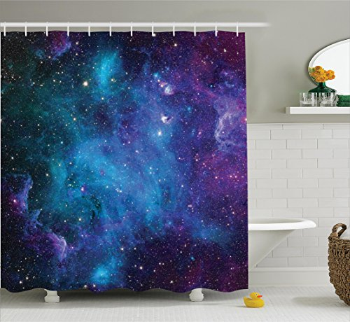 Bedroom Design Pictures Bedroom Curtains Purple Cool Bedroom Bins Bedroom Accessories List: Space Decorations Shower Curtain Set By Ambesonne, Galaxy