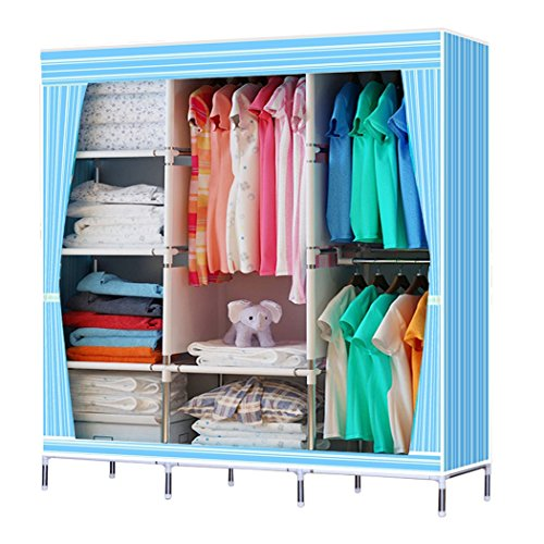 2 portable home and bedroom clothes storage closet