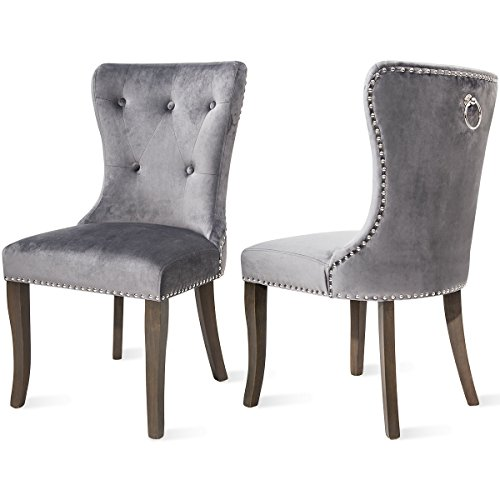 Harper Bright Design Dining Chair Tufted Armless Chair