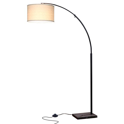 Brightech Logan LED Floor Lamp- Modern Arc Lamp With