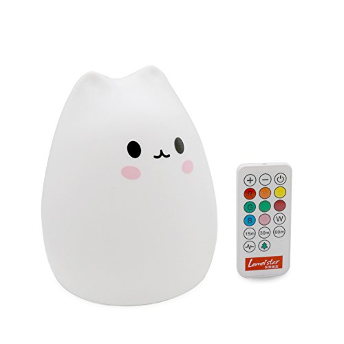 Mokoqi Timer Soft Silicone Night Light Rechargeable Remote