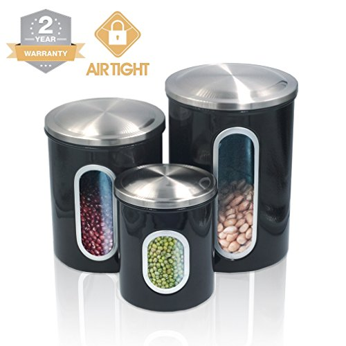 canisters for kitchen counter food storage containers canister set for ideahome 16580