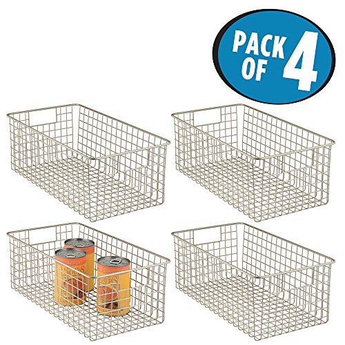 wire baskets for kitchen cabinets mdesign wire storage basket for kitchen pantry cabinet 29322